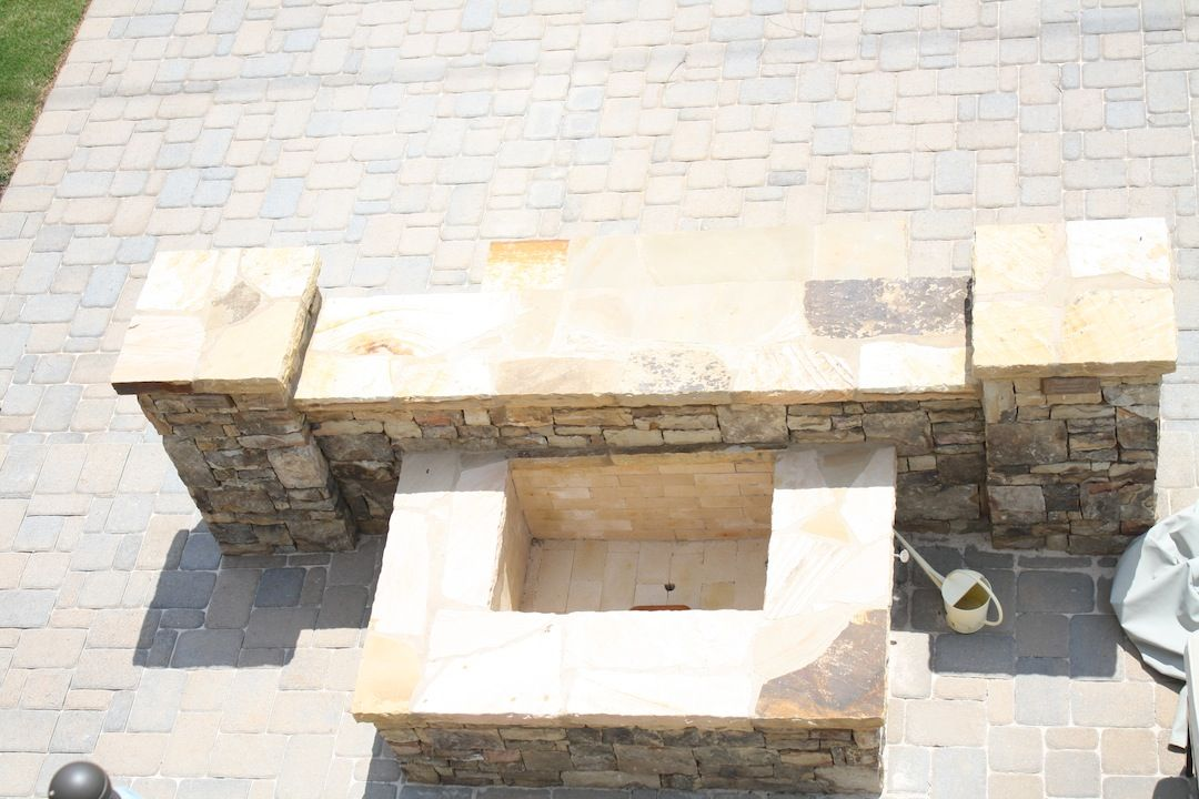 Square Stacked Stone Firepit (With images) | Stone fire pit