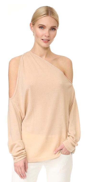 off the shoulder top by Dion Lee. Description NOTE: Sizes listed are Australian. Please see Size & Fit tab. A daring, open shoulder Dion Lee sweater, s...