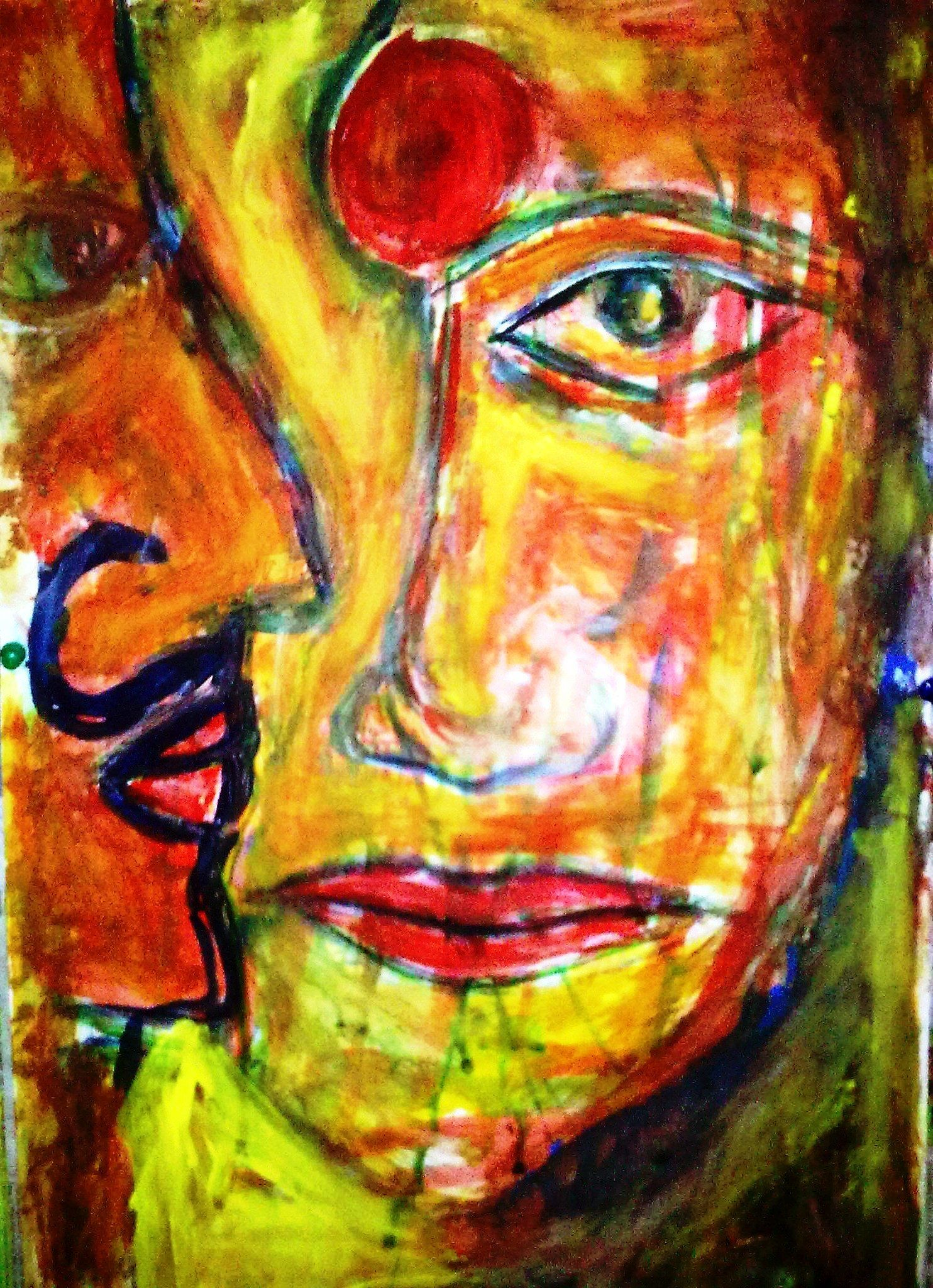 Art Paintings Ideas For Your Wall Decor: Contemporary Face Eye And ...