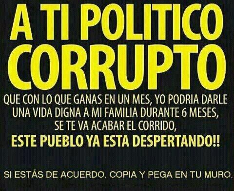 A ti #politico #corrupto
