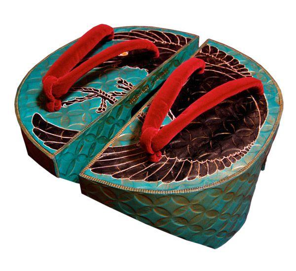 Modern twist on traditional Japanese footwear.