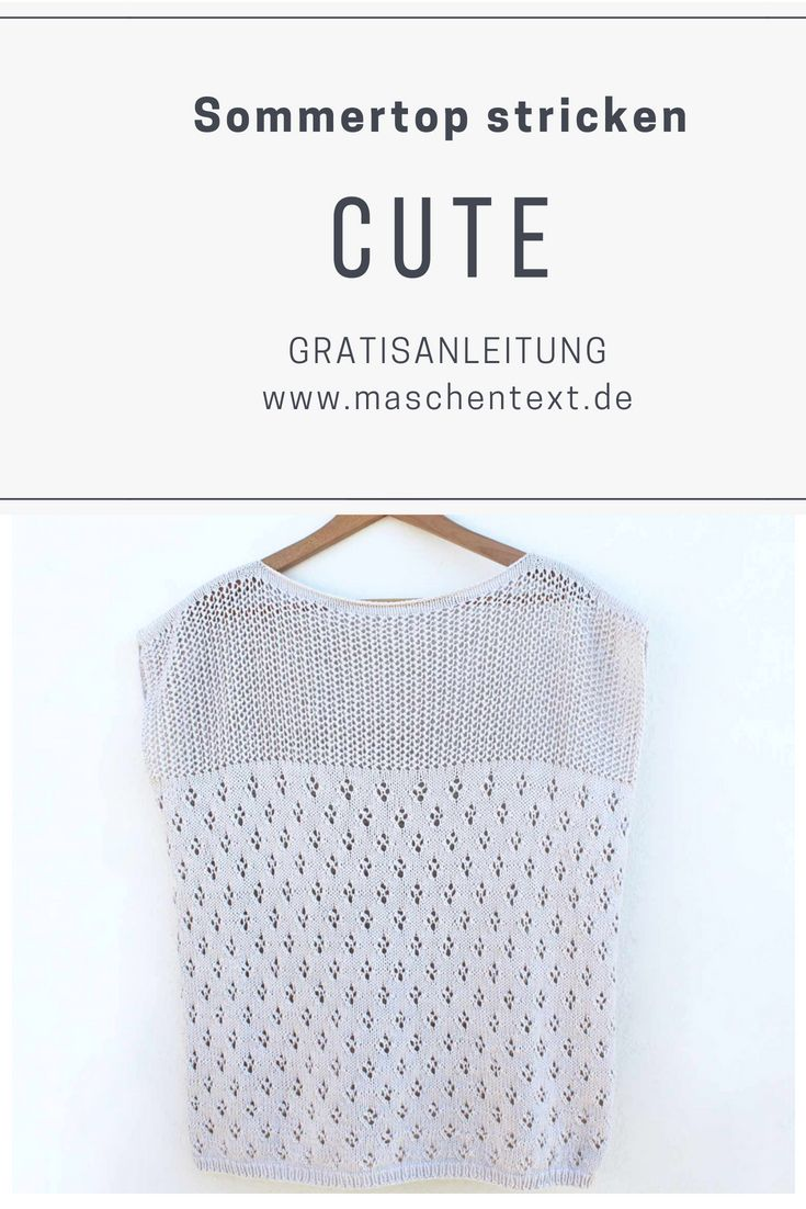 Photo of Knitting instructions: Knit CUTE-TOP