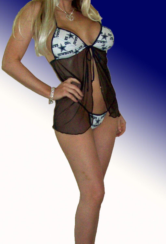 356c2f5cd47 NFL Dallas Cowboys Lingerie Negligee Babydoll Sexy Teddy Set with ...