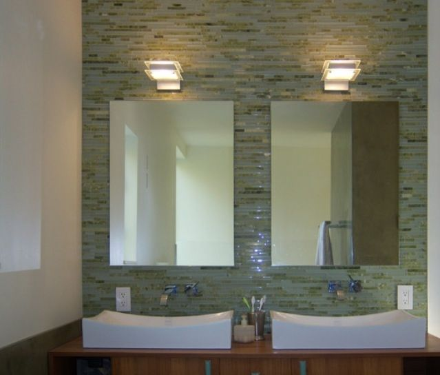 Green Bathroom with Modern and Cool Design Ideas   Light green ...