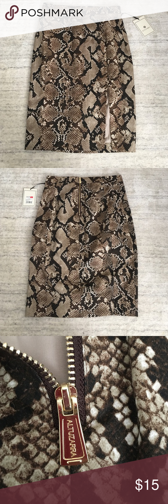 NWT Target X Altuzarra snakeskin print skirt Sz 4 New skirt with tags. No trades. Pencil skirts with slit Altuzarra Skirts Pencil