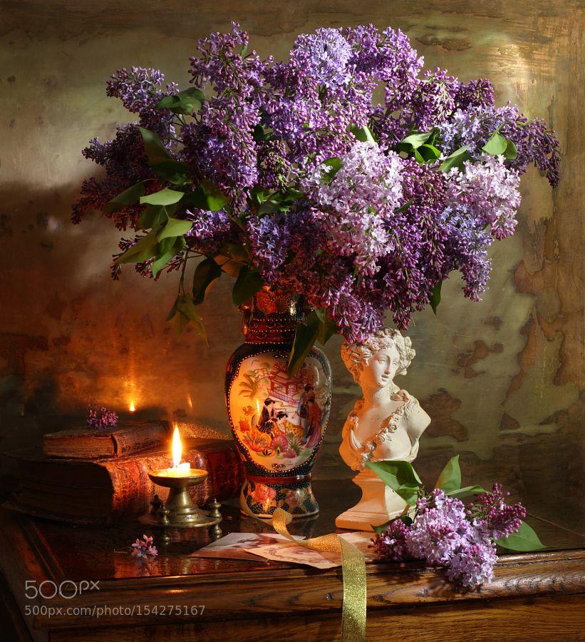 Still Life With Lilac Bust And Candles Resim Sanati Tablolar Sanat