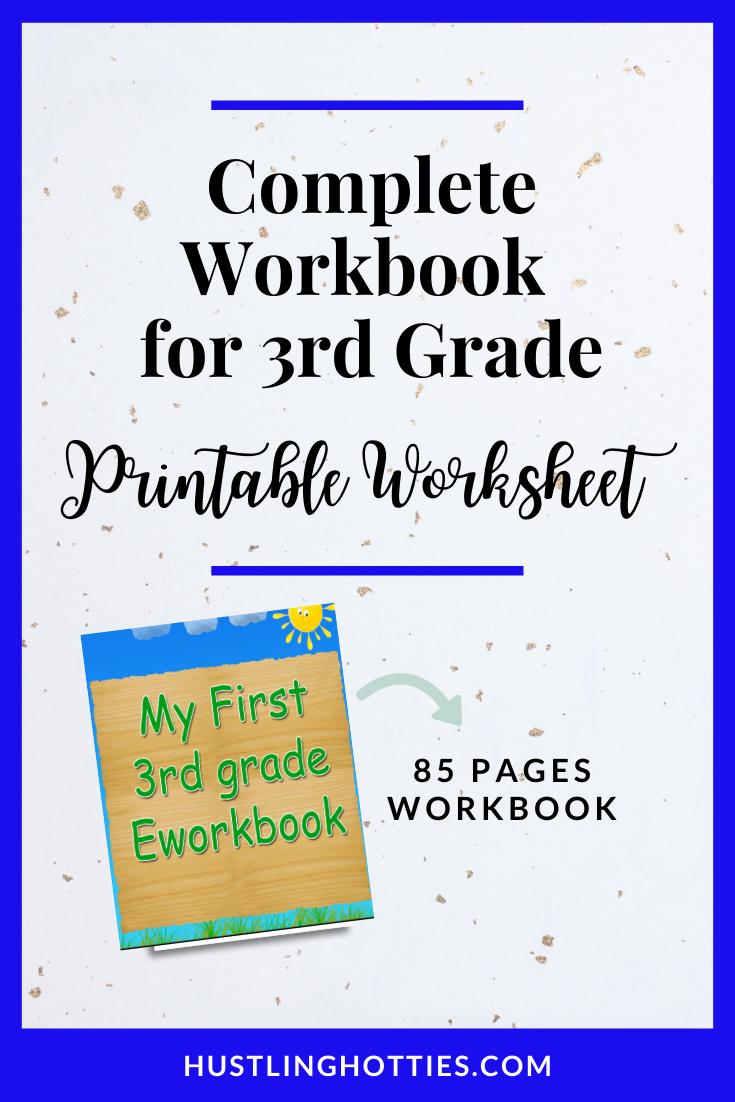 Complete 85 pages Workbook for 3rd Grade Printable Exercise Worksheet    Home-school Worksheet in 2020   Homeschool worksheets [ 1102 x 735 Pixel ]