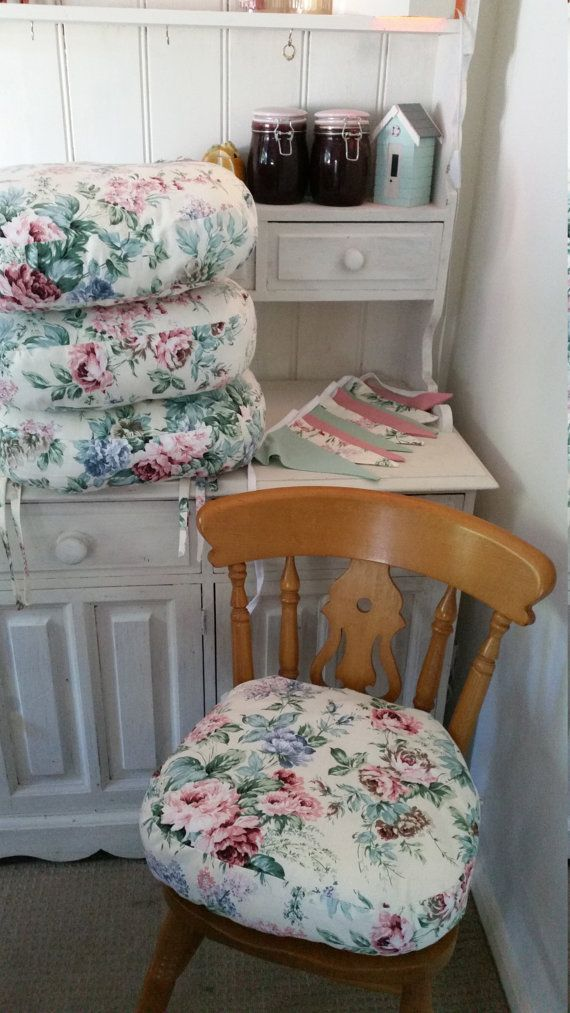 Ordinaire Seat Cushions SHABBY CHIC Chair Cushions Pads Dining Set With