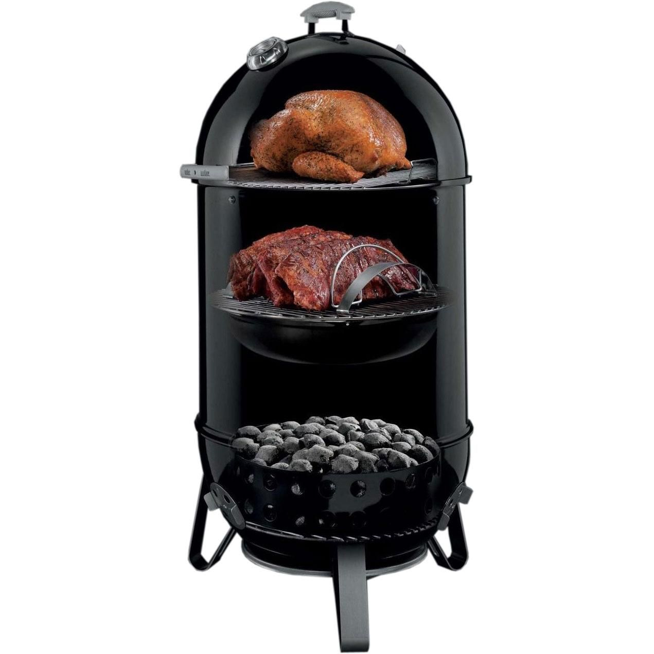 Weber 731001 Smokey Mountain Cooker 22 Inch Charcoal Smoker Bbqguys Charcoal Smoker Best Charcoal Food Temperatures