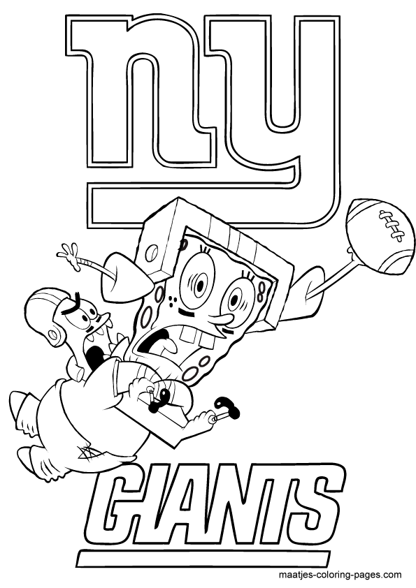For The Spongebob Fans In The World Football Coloring Pages Sports Coloring Pages Printables Kids