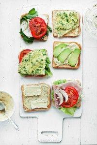 open face sandwiches