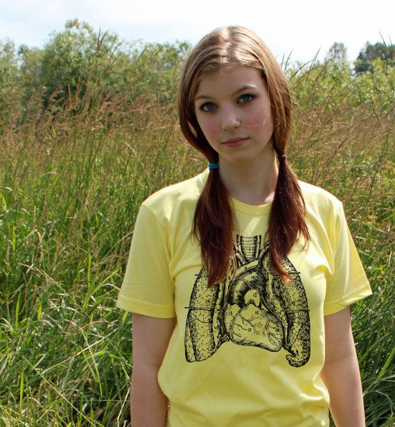 Scientific diagram of lungs and heart screen printed funny unisex t scientific diagram of lungs and heart screen printed funny unisex t shirt on etsy ccuart