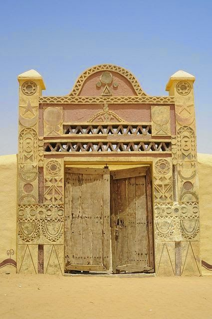 A gate from Sudan. Imagine if that door is in my house, beautiful