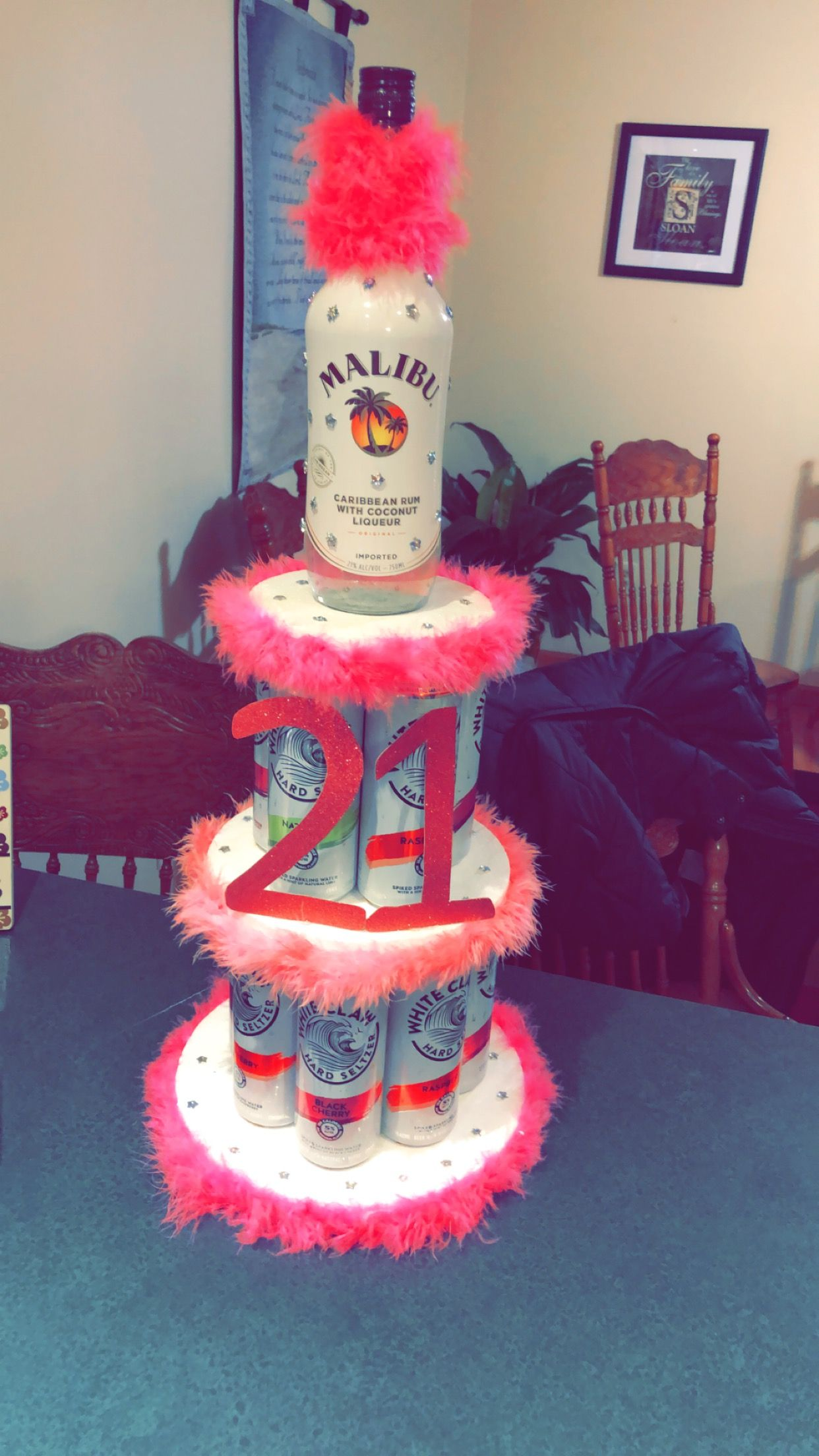 Diy 21st birthday alcohol cake with images 21st