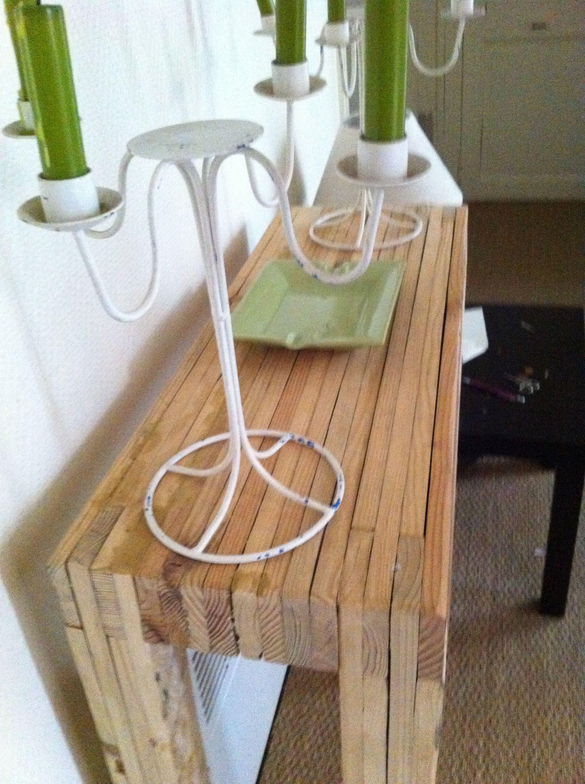 La Petite Console Idees Pour La Maison Recyclage Palette Idee Deco Bois