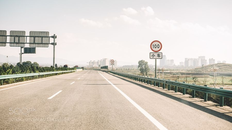 http://500px.com/photo/184359857 on the road 1 by LaoT -Expressway. Tags: colortravelroadtrafficphotographypentaxpeople's republic of china