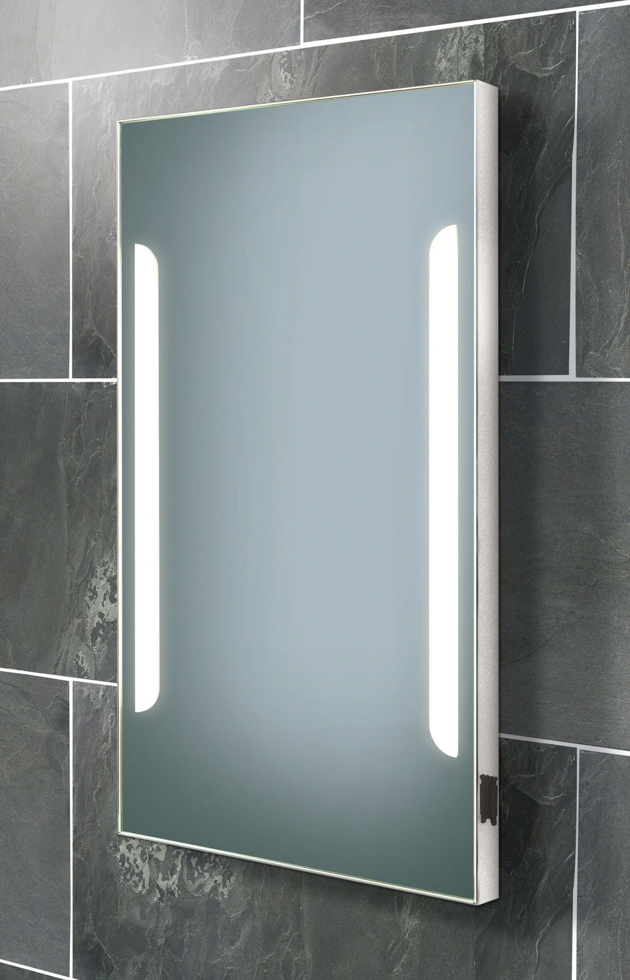 Electric Heated Bathroom Mirror In 2020 Heated Bathroom Mirror Bathroom Mirror Lights Illuminated Bathroom Cabinets