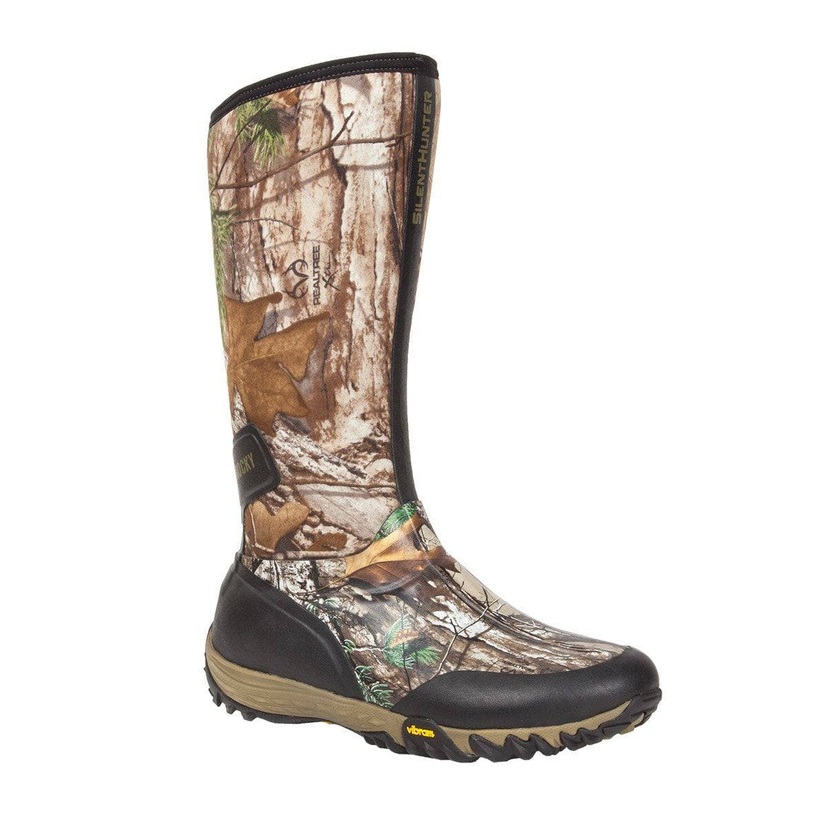 d8db79d75151a Rocky SilentHunter Mens Realtree Rubber Insulated Waterproof Hunting Boots