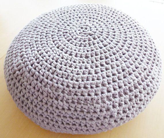 Large Crochet Pouf Ottoman Floor Cushion PDF pattern - Instant ...