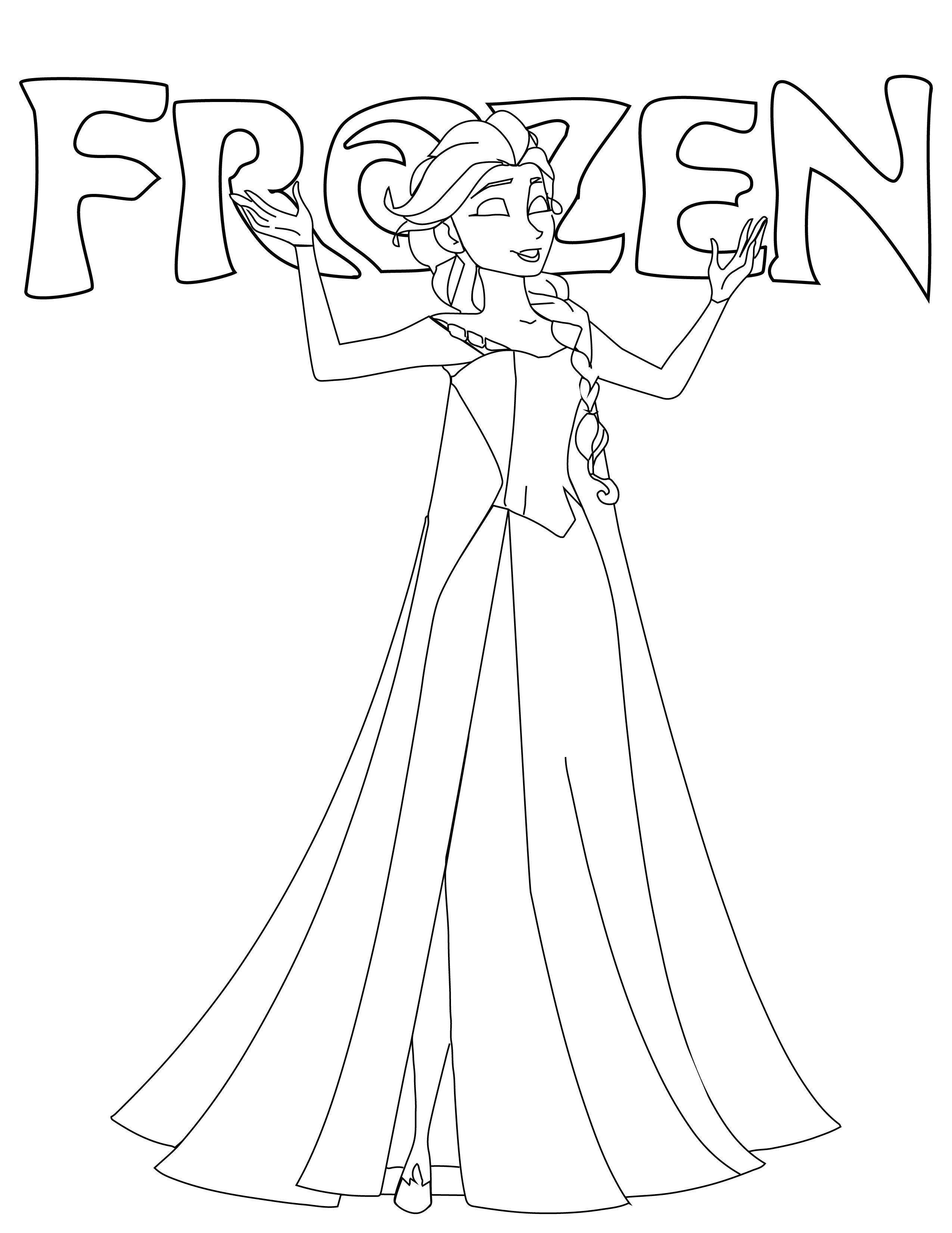 Coloriage Frozen Elsa.Disney Frozen Elsa Coloriage Noel Gratuit A Imprimer