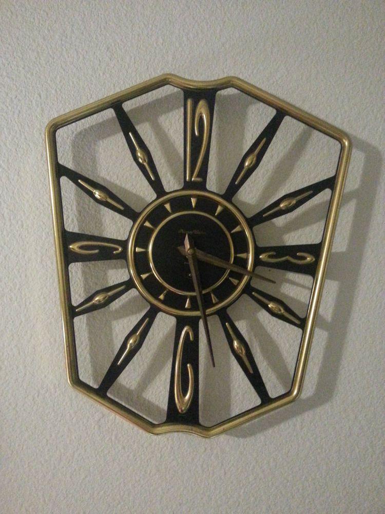 Phinney Walker 8 Day Wall Clock Mid Century Modern Made In Germany Clock Wall Clock Mid Century