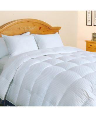 Blue Ridge 500-Thread Count Damask Stripe Down Comforter  & Reviews - Comforters - Bed & Bath - Macy's #downcomforter