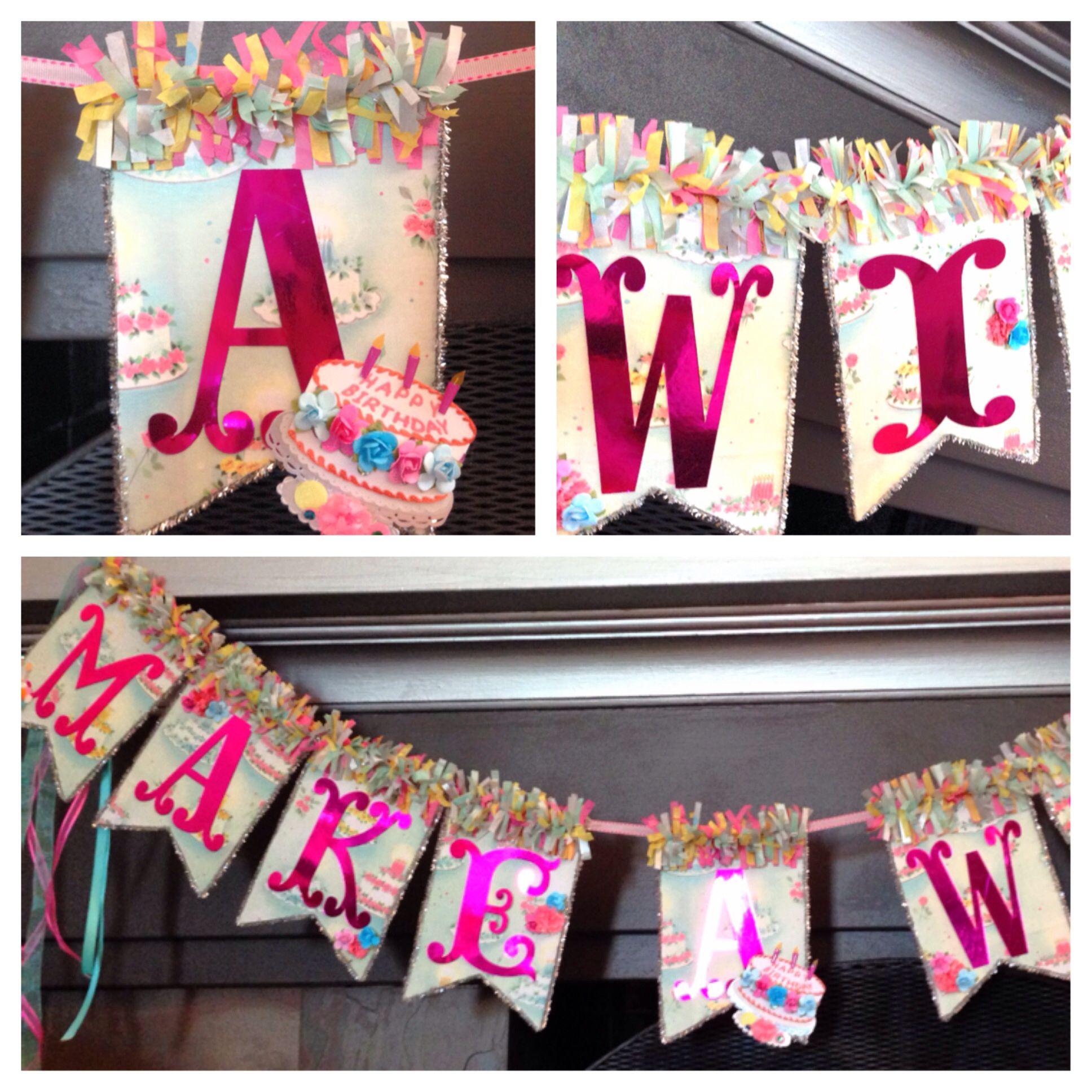 Birthday Banner - Make A Wish