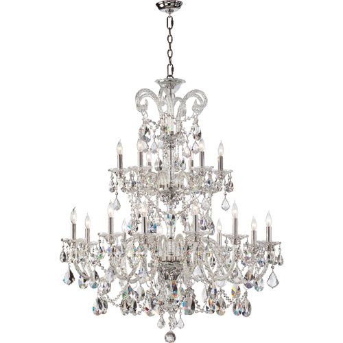Quorum International Bohemian Marien Eighteen Light Chrome Chandelier On SALE