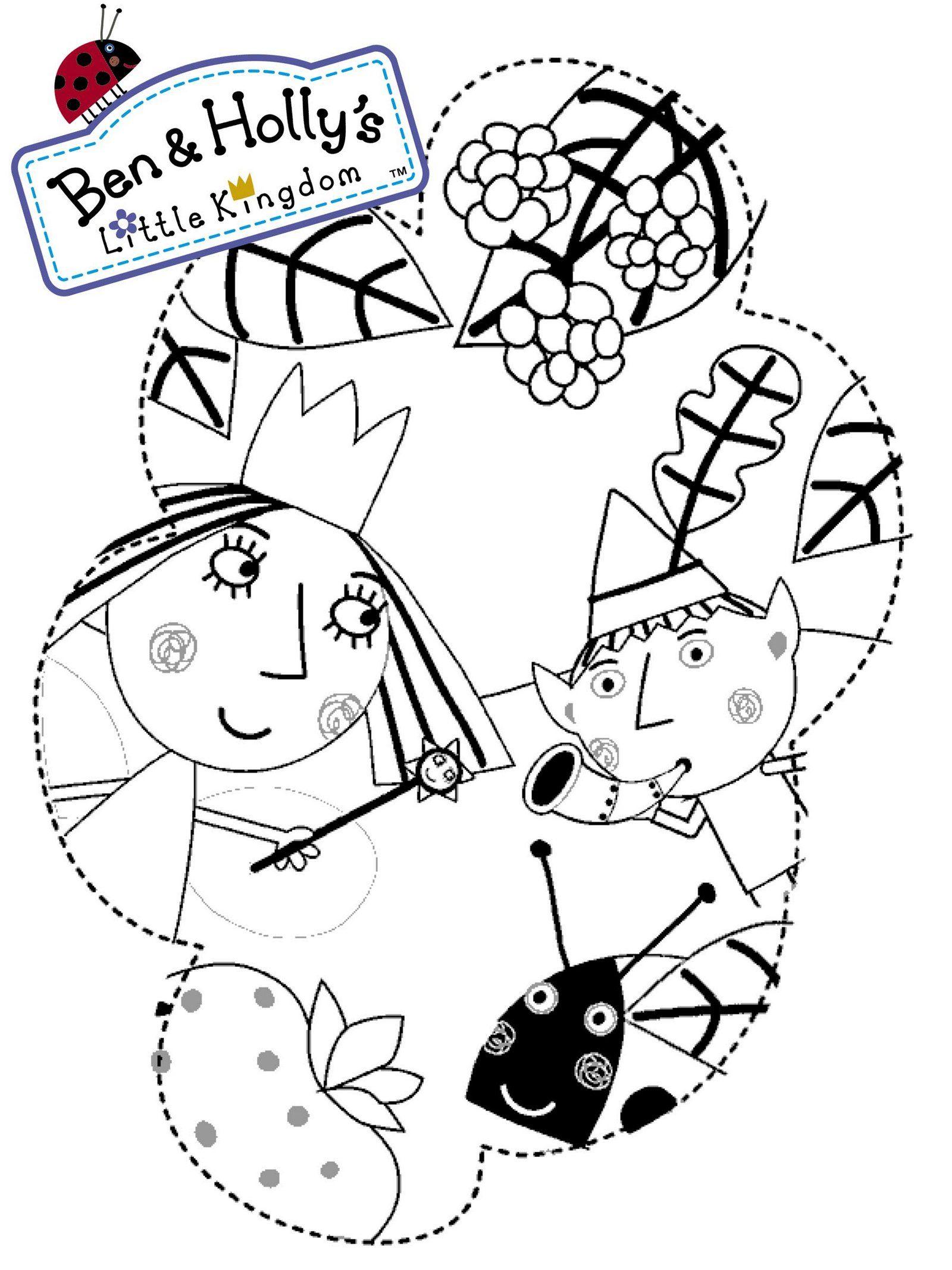 Ben Elf And Princess Holly Coloring Page Ben And Holly Coloring For Kids Ben Elf