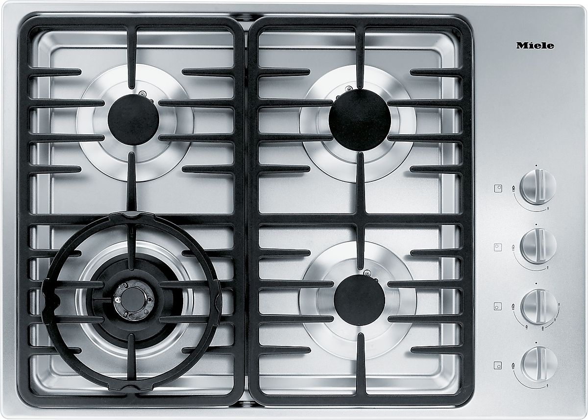 MIELE KM 3465 G Gas cooktop with a dual wok burner for