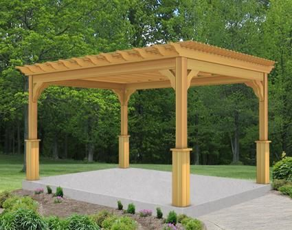 Cedar Patio Cover Kit From Gazebocreations Com Pergola Pergola Designs Deck With Pergola