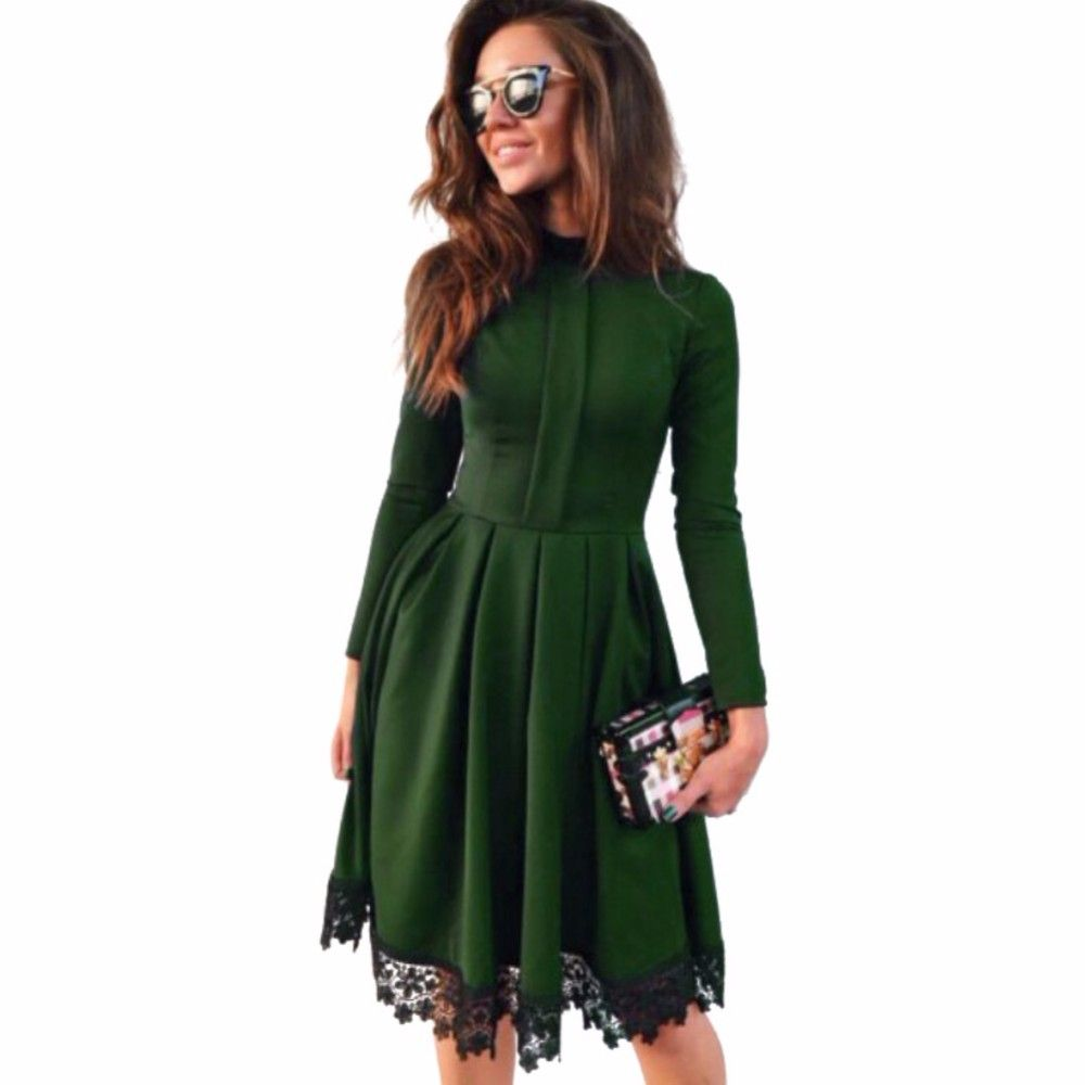 Fashion Green Slim Maxi Dresses Lace Party Dresses Hot ...