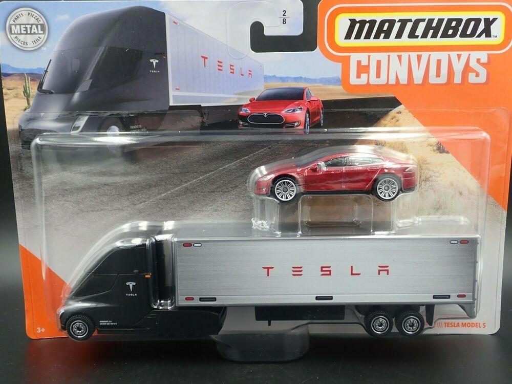 Matchbox 2020 Tesla Semi Box Trailer Tesla Model S 1 64 Scale Model Car Matchbox Tesla Tesla Model S Tesla Model Scale Models Cars