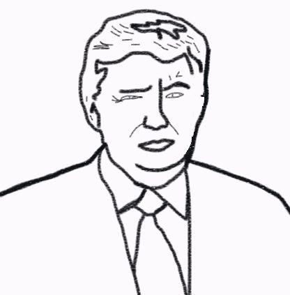 Free Montessori Donald Trump Coloring Page