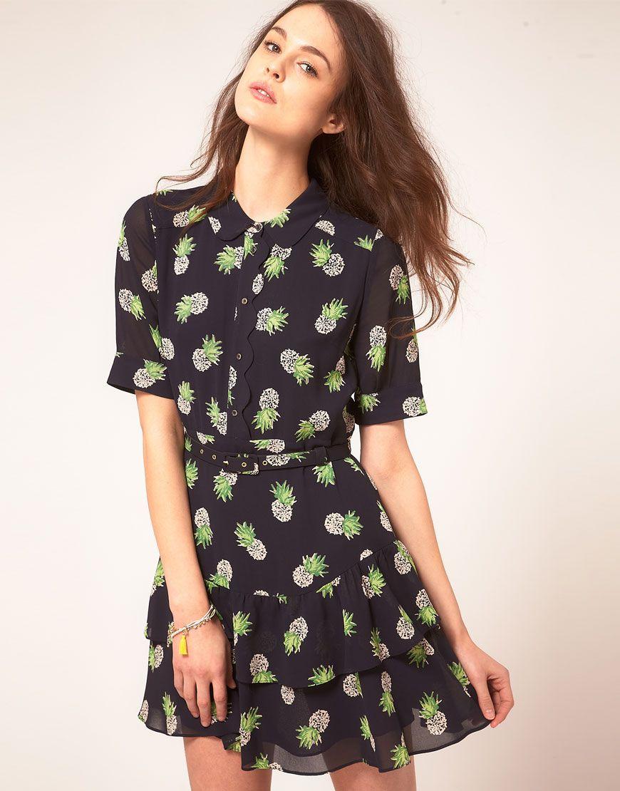 d785dedefc6 Whistles Beatrice Pineapple Print Dress