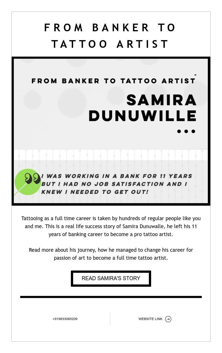 From Banker To Tattoo Artist Success Story From Aliens Tattoo