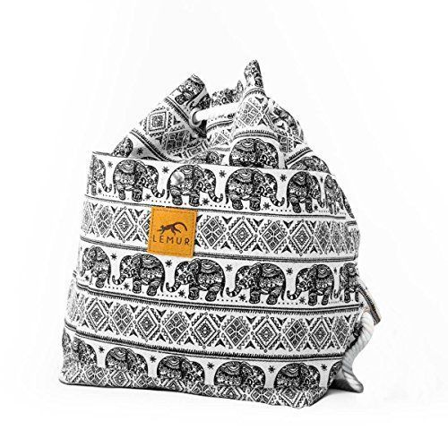 Canvas Drawstring Bucket Bag Shoulder Day Backpack by Lemur Bags Women s  Shoes  LemurBags beb445eee3169