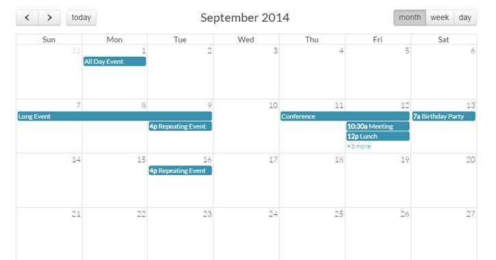 02-full-calendar-jquery-plugin #CSS/HTML/HTML5/JQuary/ Pinterest
