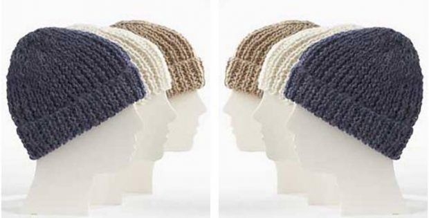 Simple Knit Family Toques FREE Knitting Pattern (With ...