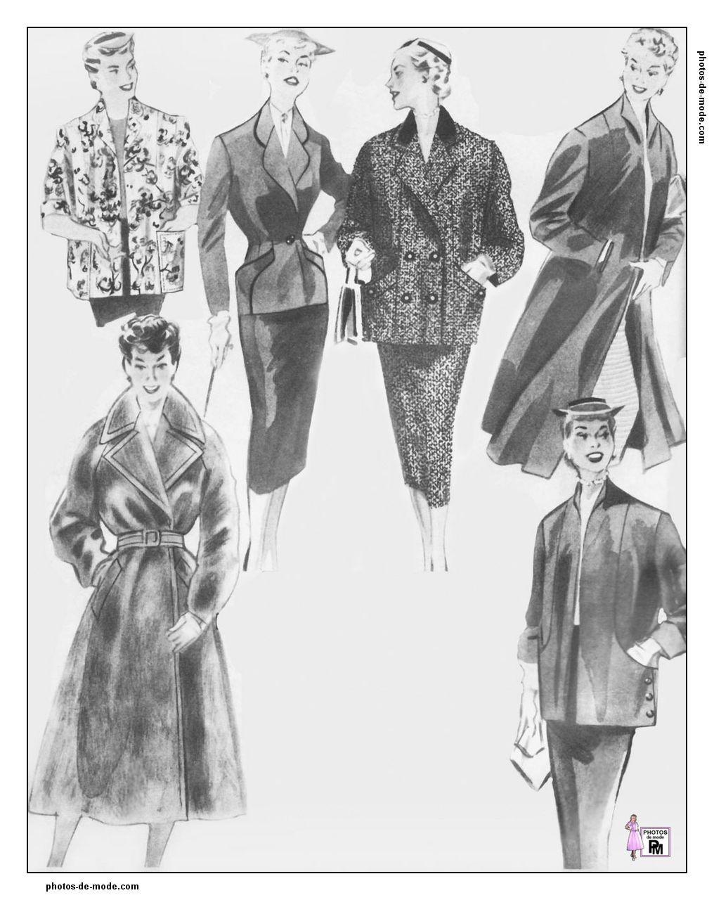 mode 1950 1954-1-BM-005.jpg | Mode rétro | Pinterest