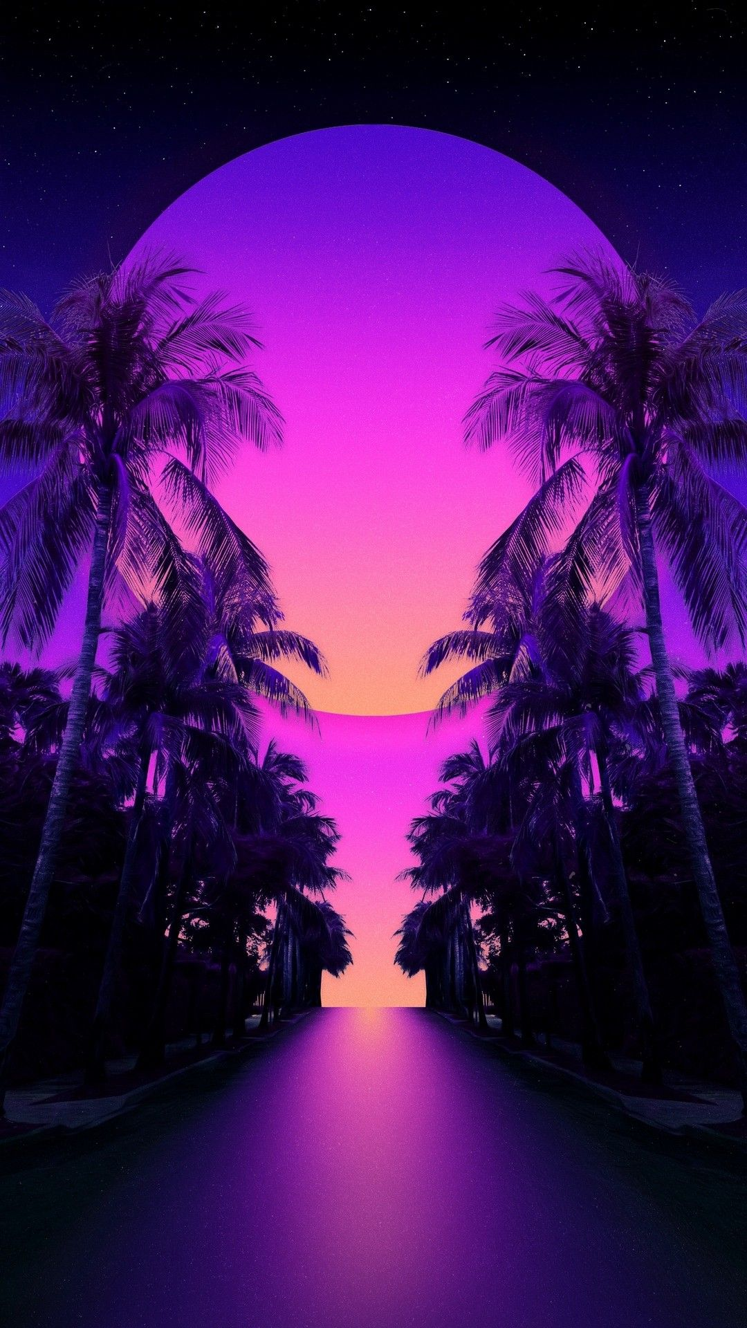 Synthwave Apple wallpaper iphone, Iphone homescreen