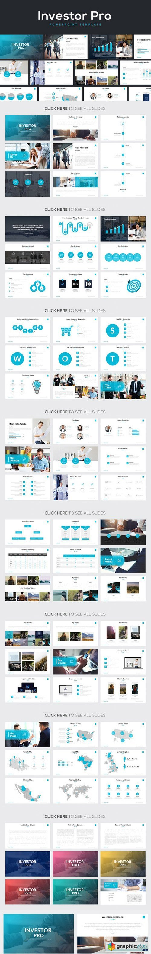 investor pro powerpoint template presentation pinterest