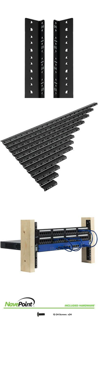 Racks Chassis And Patch Panels 51197 Navepoint 6u Vertical Rack Rail Pair Diy Kit With Hardware Buy It Now Only 14 95 On E Diy Kits Patch Panels Hardware