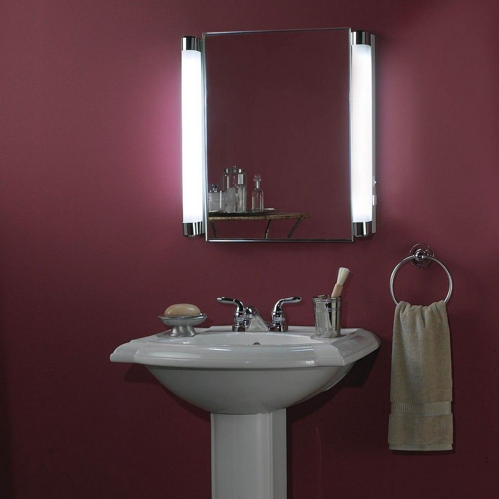 Beside the mirror lighting how to light up your bathroom - Traditional bathroom mirror with lights ...