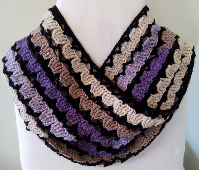 Free Crochet Pattern: Luscious Lilacs Infinity Scarf   Crochet ...
