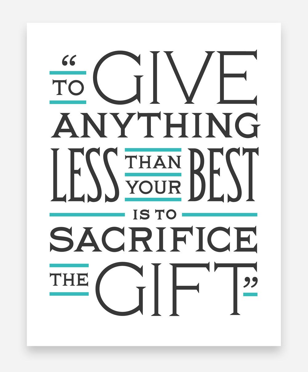 Quotes About Fighting Cancer To Give Anything Less Than Your Best Is To Sacrifice The Gift