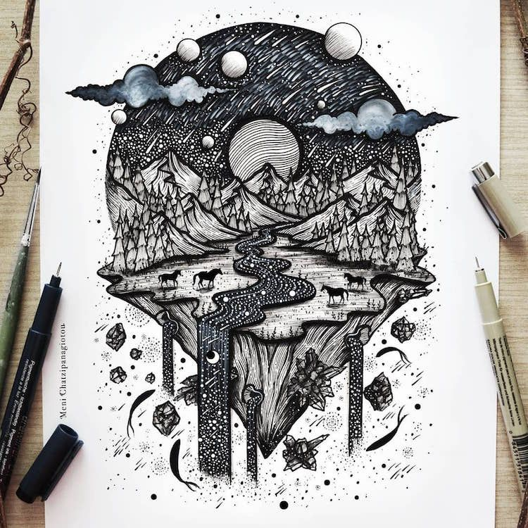 Stunning Black And White Illustrations Will Fill Your Soul