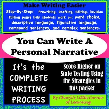 You Can Write A Personal Narrative Middle School Language