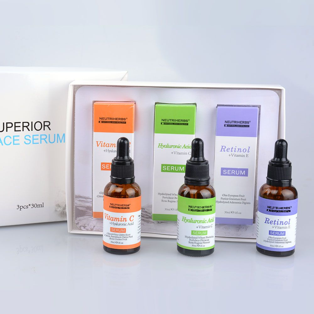 99214a1b5ab Neutriherbs Superior Best Skin Serum contains three kinds of skin serum: Vitamin  C Serum, Hyaluronic Acid Serum, Retinol Serum