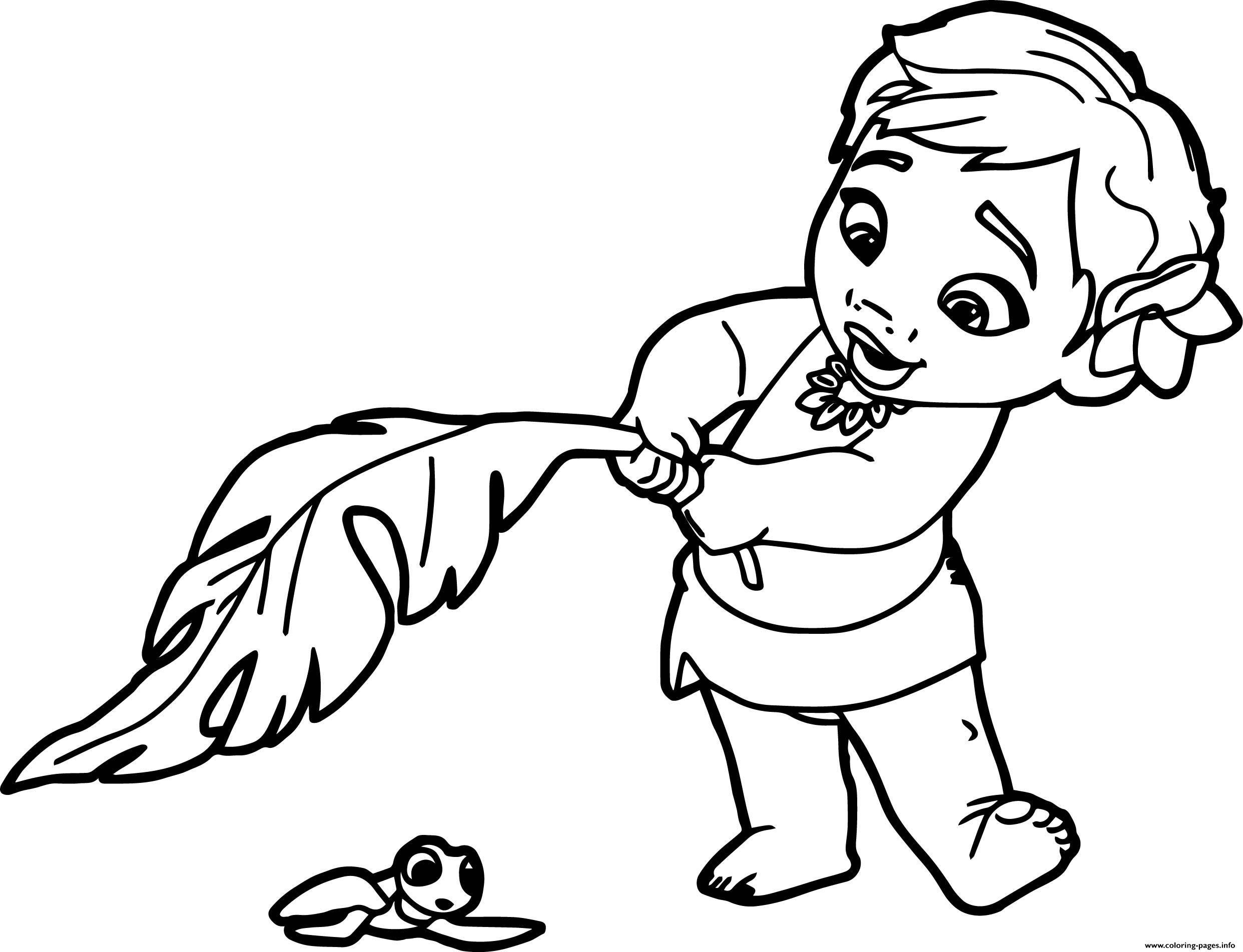 Print Baby Moana Princess Disney Coloring Pages Princess